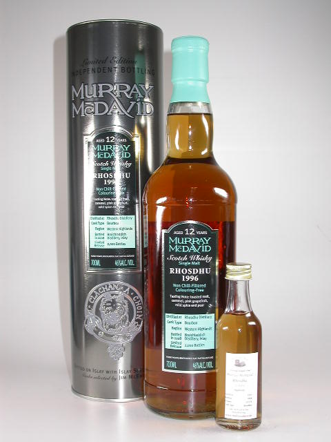 Rosdhu 1996/2008 Bourbon Murray McDavid 46%vol. Sample 0,05l (7,80EUR / l)