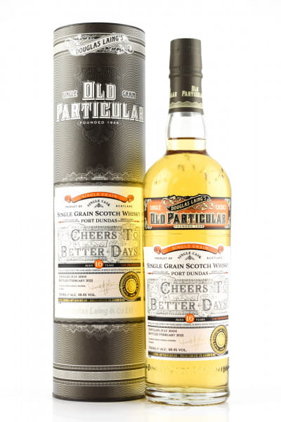 """Port Dundas 16 Jahre """"Cheers to better Days"""" Douglas Laing """"Old Particular"""" 48,4%vol. 0,7l"""