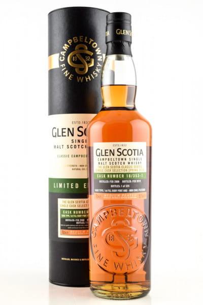 Glen Scotia 2008/2019 1st-fill Ruby Port Hogshead #18/353-1 55,1%vol. 0,7l