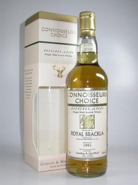 Royal Brackla 1991/2006 Gordon & MacPhail Connoisseurs Ch. 46%vol. 0,7l