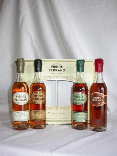 Pierre Ferrand Cognac-Tasting-Set 40%vol. 4x 0,2l