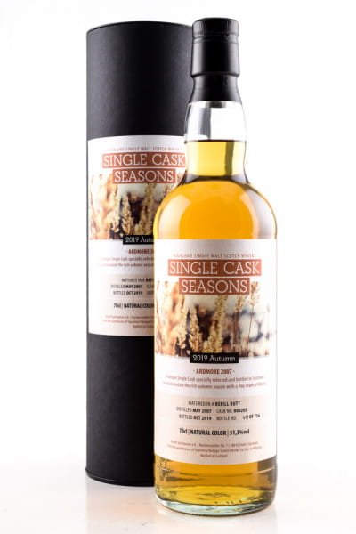 Ardmore 12 Jahre Refill Butt Single Cask Seasons Signatory 51,3%vol. 0,7l