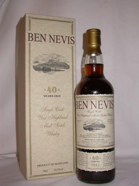 Ben Nevis 40 Jahre 1967/2007 Sherry Cask No. 1278 43,4%vol. 0,7l