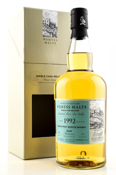 """Smoked Pico De Gallo"" 1992/2018 Single Bourbon Hogshead Bowmore Wemyss Malts 46%vol. 0,7l"