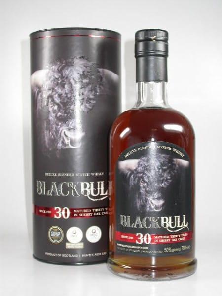 Black Bull 30 Jahre Sherry Casks Deluxe Blend D.Taylor50%vol.Sample 0,05l