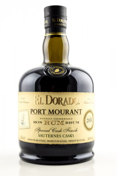 El Dorado Port Mourant 2000 Sauternes Cask Finish 58,6%vol. 0,7l