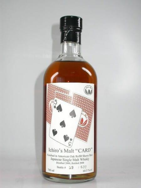"Hanyu-Ichiro's Malt ""Five of Spades"" 00/08 Single Cask #9601 60,5%vol. 0,7l"