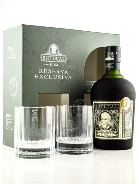 Botucal Reserva Exclusiva 40%vol. 0,7l - mit 2 Old Fashioned Gläsern