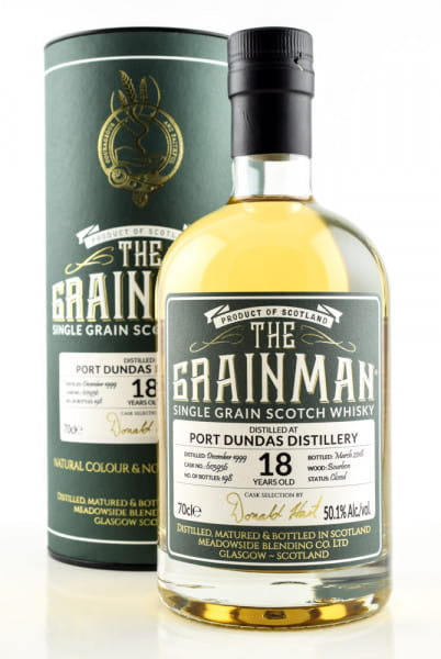Port Dundas 18 Jahre 1999/2018 Bourbon Cask #603936 The Grainman 50,1%vol. 0,7l