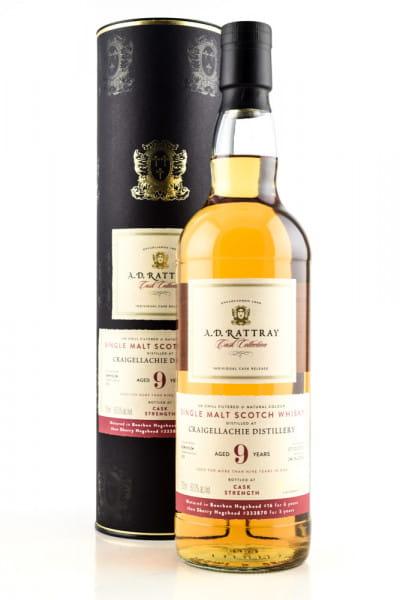 Craigellachie 9 Jahre 2010/2019 A.D. Rattray Bourbon/Sherry 60%vol. 0,7l