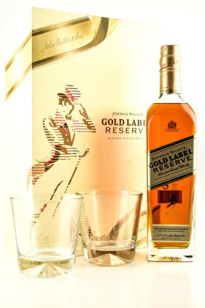 Johnnie Walker Gold Label Reserve 40%vol. 0,7l mit 2 Tumblern