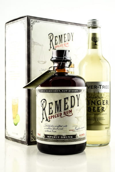 Remedy Spiced Rum 41,5%vol. 0,7l mit Ginger Beer