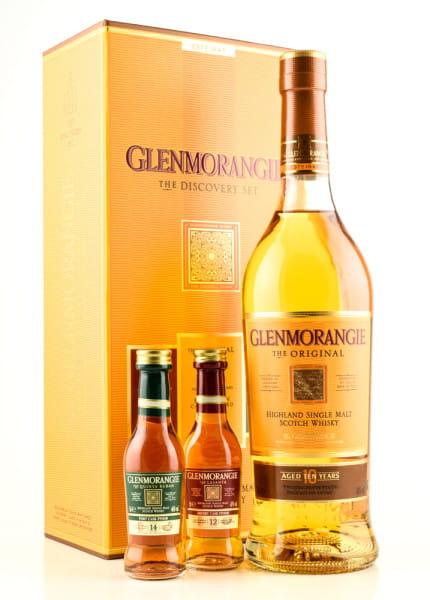 Glenmorangie The Discovery Set 40/43/46%vol. 1x 0,7l & 2x 0,05l