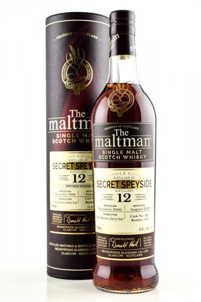 Secret Speyside 12 Jahre 2006/2019 PX Sherry Butt #107 The Maltman 51,8%vol. 0,7l