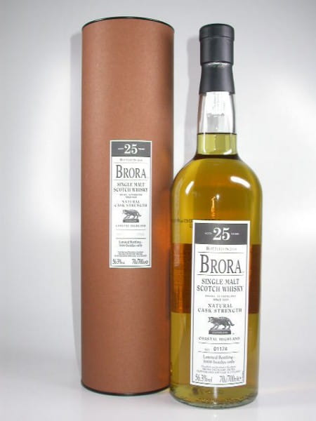 Brora 25 Jahre Bottled 2008 Natural Cask Strength 56,3%vol. 0,7l