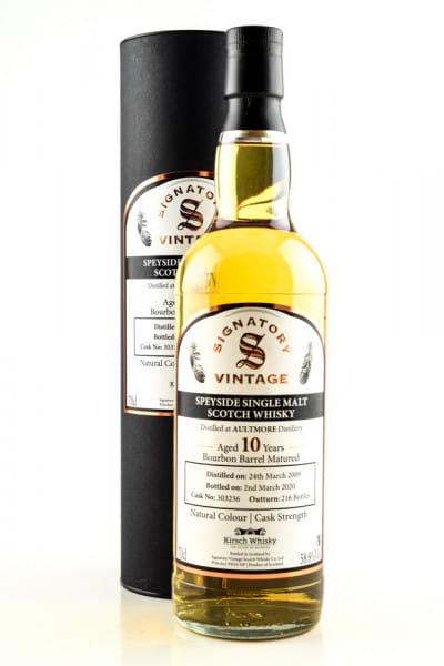 Aultmore 10 Jahre 2009/2020 Bourbon Barrel #303236 Vintage Signatory 58,8%vol. 0,7l