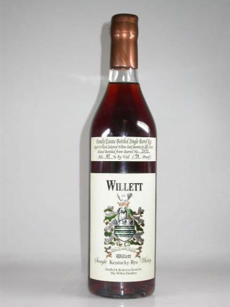 Willett 25 Jahre Single Barrel No. 1372 Kentucky Rye 47%vol. 0,7l