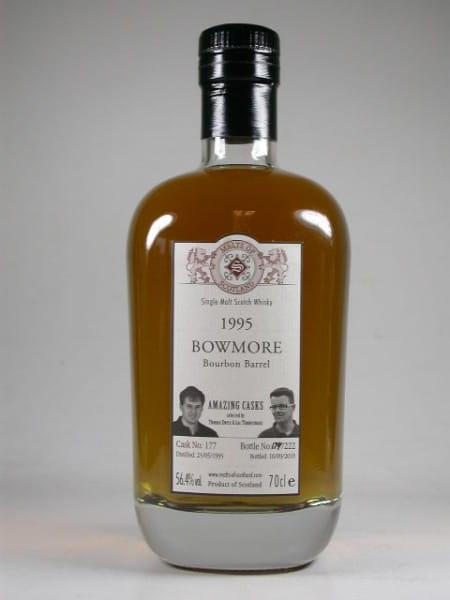 """Bowmore 1995/2010 Bourbon Barrel """"Amazing Casks"""" Malts of Scotland 56,4%vol. 0,7l"""
