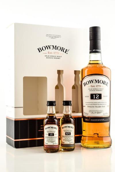 Bowmore 12 Jahre 40%vol. 0,7l mit zwei Miniaturen