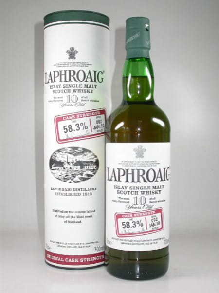 Laphroaig 10 Jahre Cask strength Batch 002 Jan. 2010 58,3%vol. 0,7l