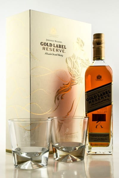 Johnnie Walker Gold Label Reserve 40%vol. 0,7l mit 2 Gläsern