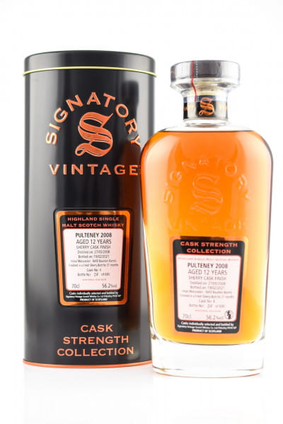 Pulteney 12 Jahre 2008/2021 Fresh Sherry Butt #4 Finish Signatory Cask strength Coll. 56,2%vol. 0,7l
