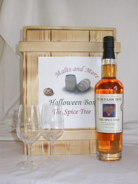 The Spice Tree Compass Box Halloween Box mit 2 Gläsern