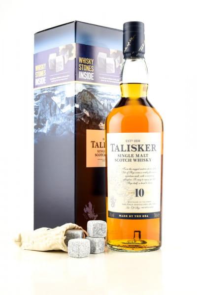 Talisker 10 Jahre 45,8%vol. 0,7l mit 4 Whisky-Steinen