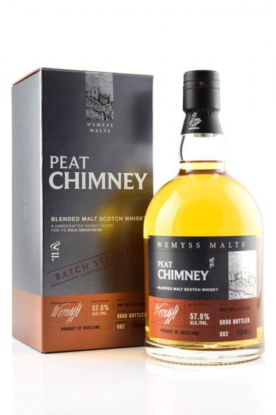 Peat Chimney Batch Strength #002 Wemyss Malts 57%vol. 0,7l
