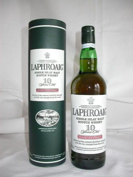 Laphroaig 10 Jahre Cask strength 55,7%vol. 0,7l (alte Ausstattung)