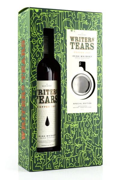 Writers Tears - Irish Pot Still Blend 40%vol. 0,7l mit Hip Flask