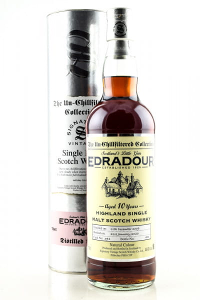 Edradour 10 Jahre 2009/2020 Single Cask #394 Signatory 46%vol. 0,7l