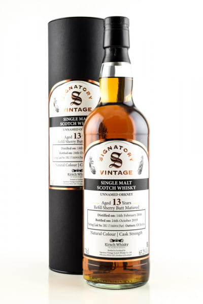 Unnamed Orkney 13 Jahre 2006/2019 Refill Sherry Butt DRU 17/A65 #14 (Part) Vintage Signatory 65,2%vol. 0,7l