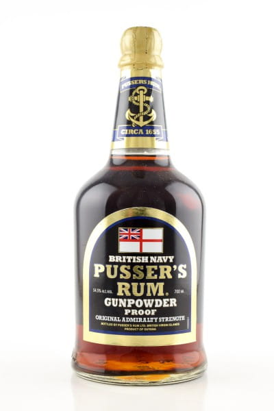Pusser's British Navy Gunpowder Proof Black Label 54,5%vol. 0,7l