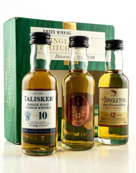 Discovery Collection Talisker/Cardhui/Singleton 40/45,8%vol. 3x 0,05l
