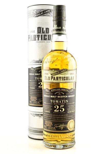 """Tomatin 25 Jahre Bourbon Barrel 1995/2020 Douglas Laing """"Old Particular"""" 55,2%vol. 0,7l"""
