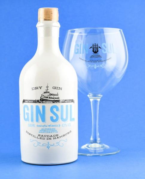 Gin Sul 43%vol. 0,5l mit Copa-Glas