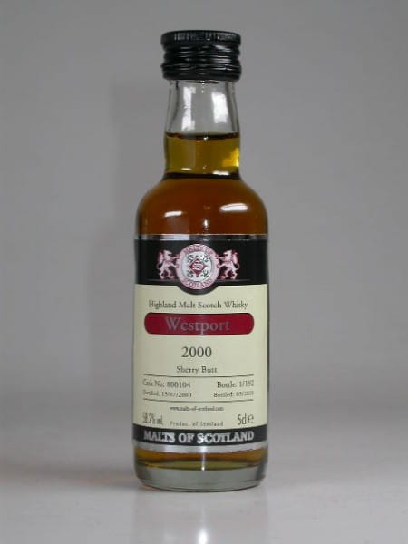 Westport 2000/2010 Sherry Butt Malts of Scotland 58,2%vol. 0,05l