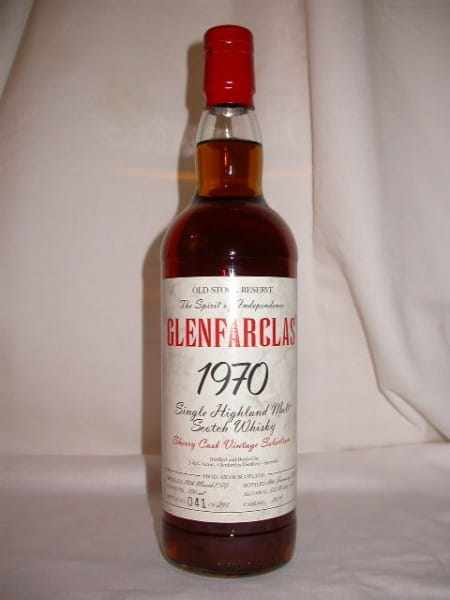 Glenfarclas 1970/2003 Old Stock Reserve Sherry Cask #2019 50,1%vol. 0,7l
