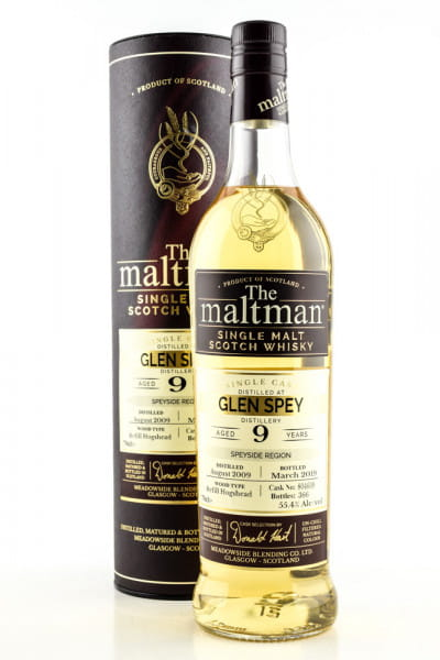 Glen Spey 9 Jahre 2009/2019 Refill Hogshead #804609 The Maltman 55,4%vol. 0,7l