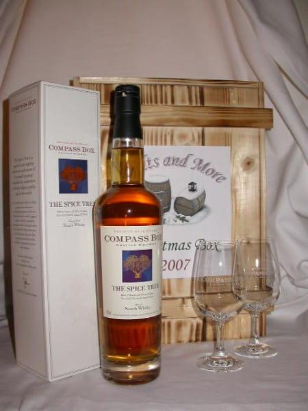 Christmas Box Compass Box Spice Tree 46%vol. 0,7l mit 2 Gläsern