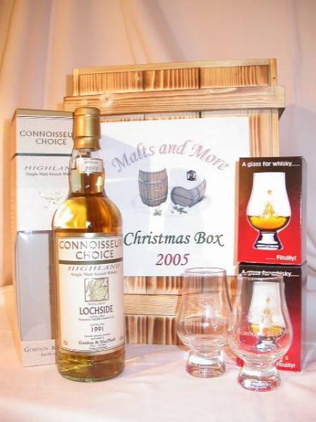 Christmas Box Gordon & MacPhail Lochside 1991/2004 + 2 Gläser
