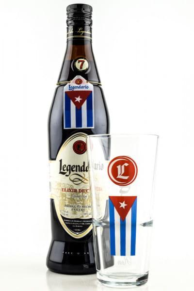 Legendario Elixier de Cuba 34%vol. 0,7l mit Glas