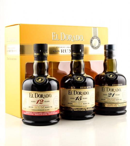 El Dorado - The Collection 40/43%vol. 3x 0,35l