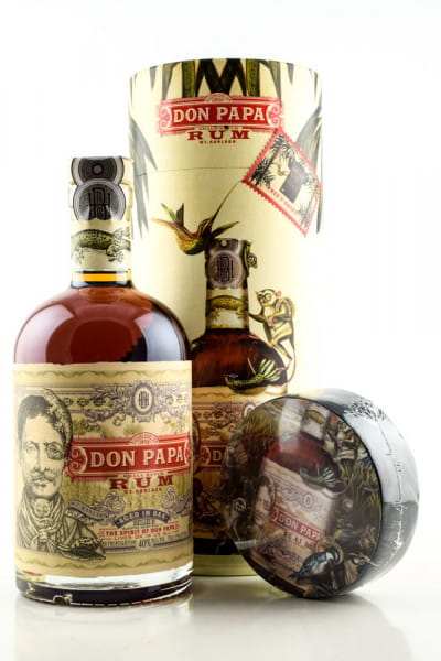 Don Papa 40%vol. 0,7l mit T-Shirt und Giftbox