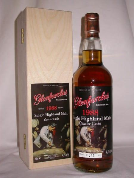 Glenfarclas 1988/2008 Quarter Casks 46,1%vol. 0,7l Holzkiste