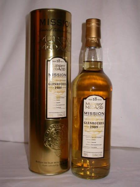 Glenrothes 1989/2007 Murray McDavid Gold Series 53,6%vol. 0,7l