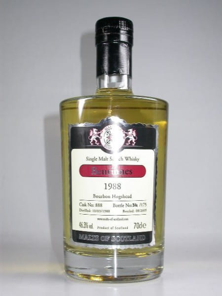 Benrinnes 1988/2009 Bourbon Hogshead Malts of Scotland 46,3%vol. 0,7l