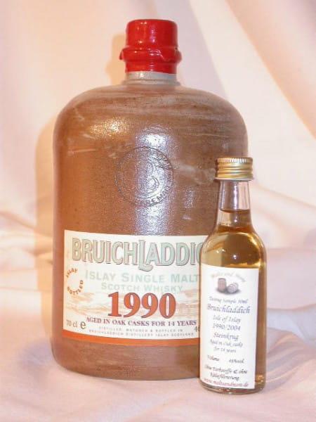 Bruichladdich 1990/2004 Steinkrug 46%vol. Sample 0,05l