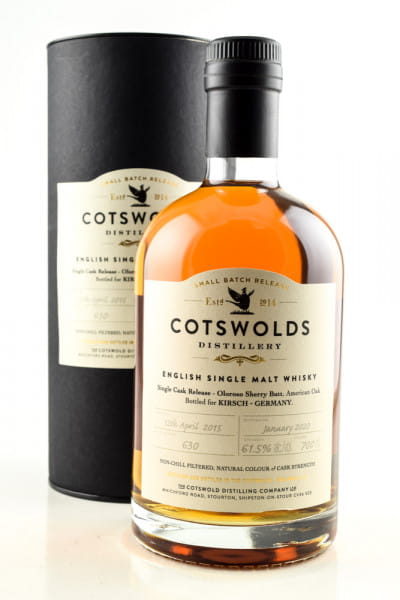 Cotswolds 2015/2020 Single Oloroso Sherry Butt #630 61,5%vol. 0,7l